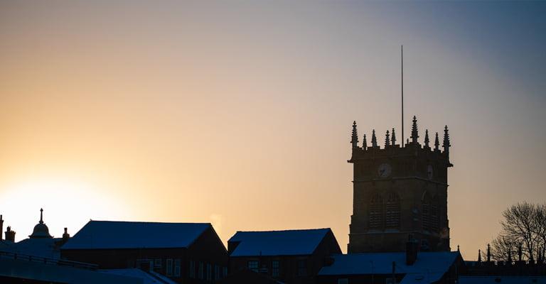 Church Tower In Wigan